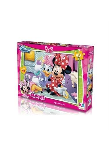 KS Puzzle KS Puzzle MIN709 Minnie Temalı 50 ParÇa Çocuk Puzzle Renkli